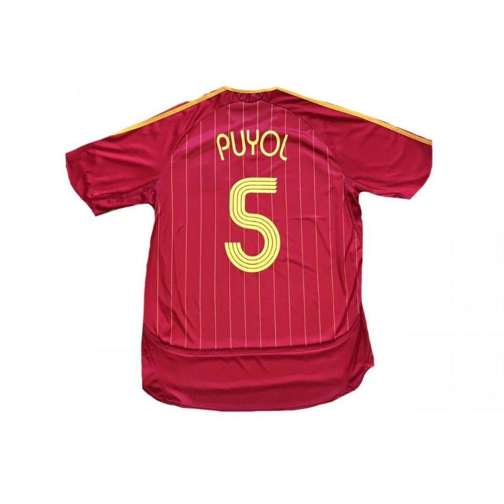 "Camiseta ESPAÑA mundial 2006 ""PUYOL 5"" (L) - Football ..."